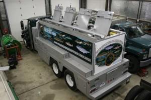 Michigan DNR Fish stocking vehicle