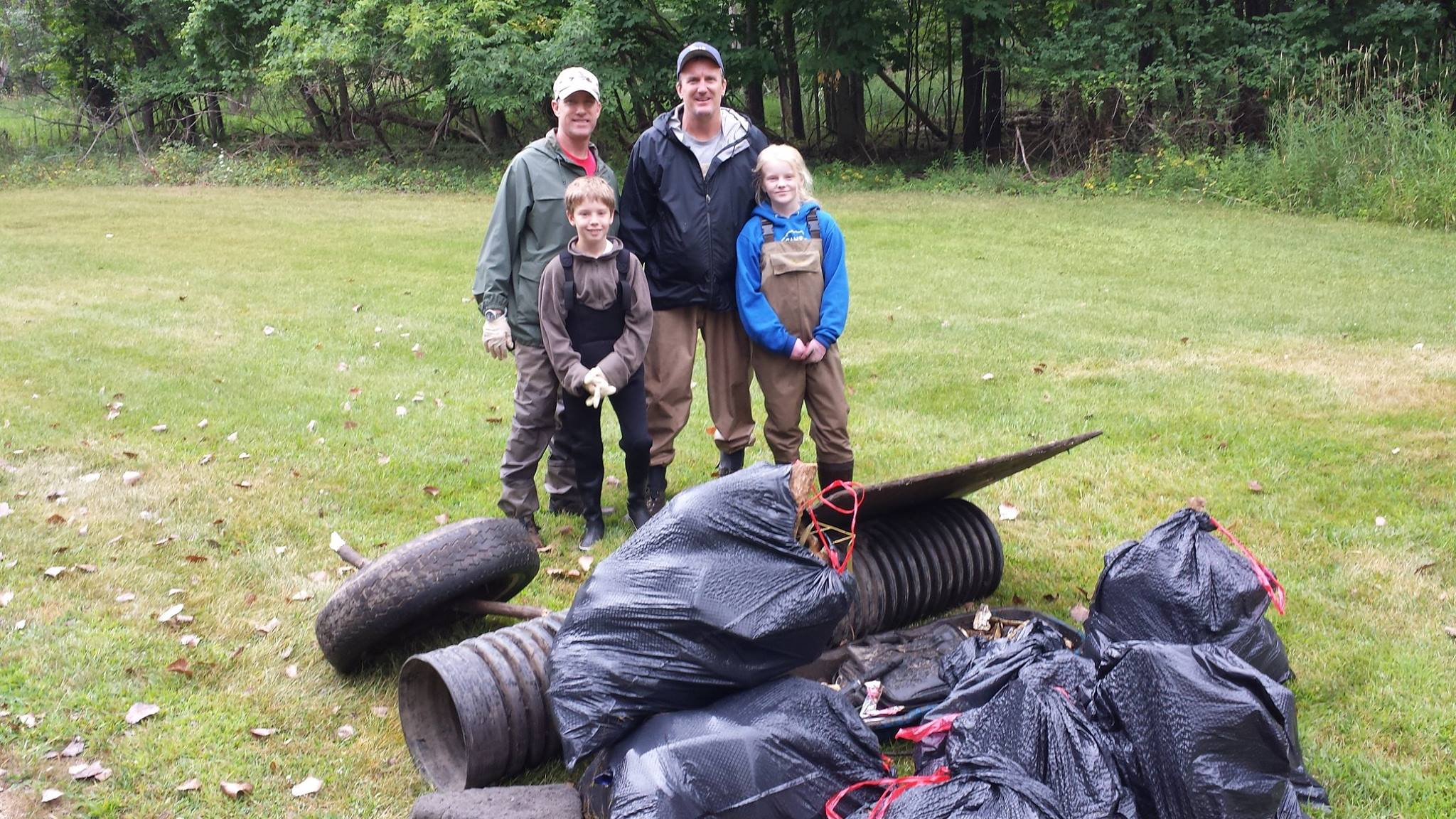 Buck Creek clean-up on August 12
