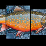 Derek DeYoung Brook Trout Print for the live auction