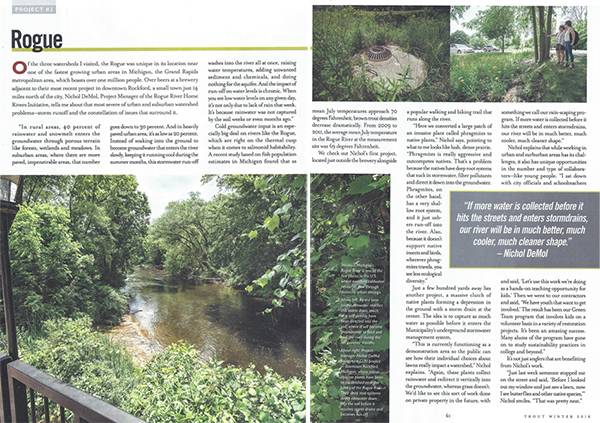 Trout magazine features Rogue River Home Rivers Initiative