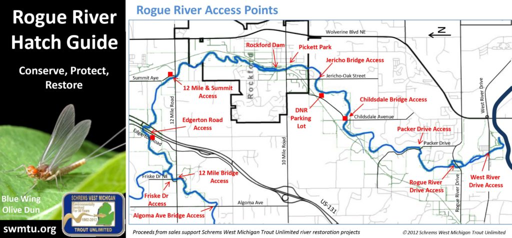 Rogue River Map and Hatch Guide