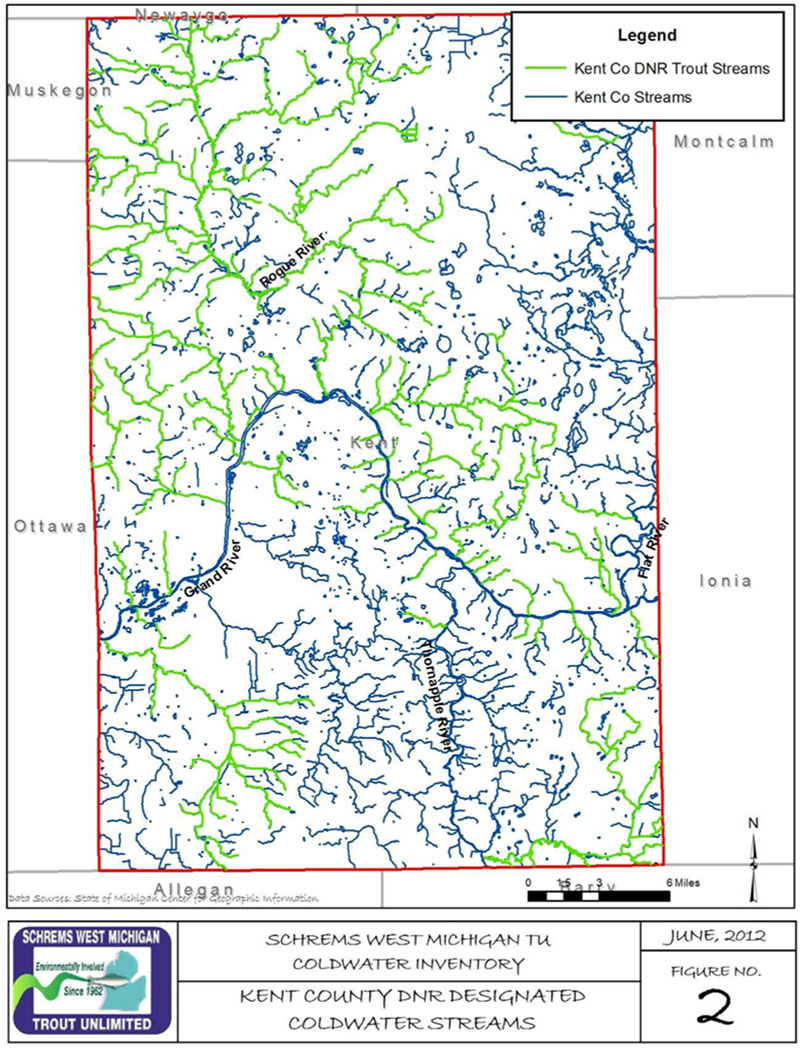 Kent County Coldwater Inventory Schrems West Michigan Trout Unlimited