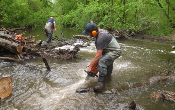 Big portion of Coldwater River improved for trout habitat