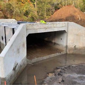 Road stream crossing improved on Bigelow Creek