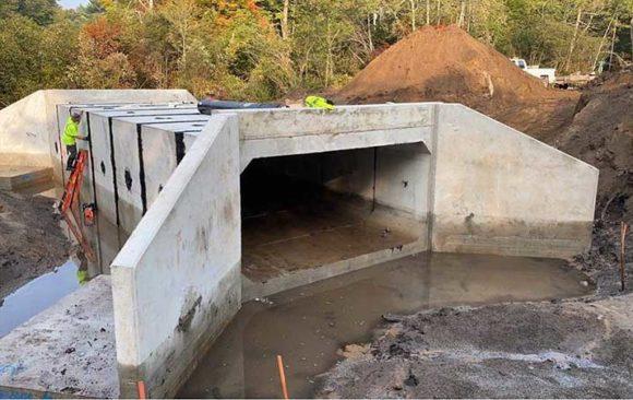 Road stream crossing improved on Bigelow Creek